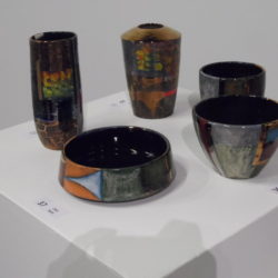 coloured vases, bowl