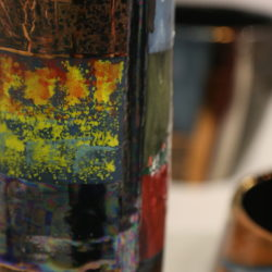 coloured vase detail