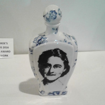 bottle with face