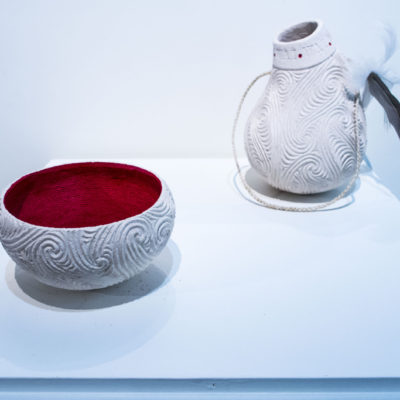 bowl and bottle