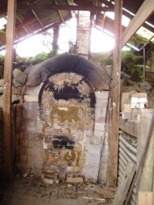 closed up kiln opening