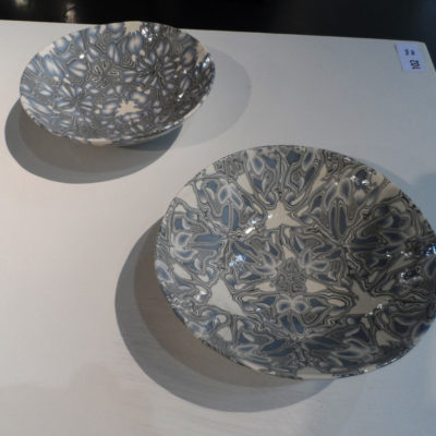 2 agate ware bowls