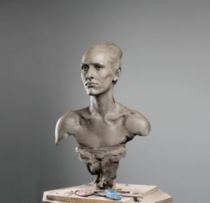 Bust sculpture of a woman by Javier Murcia