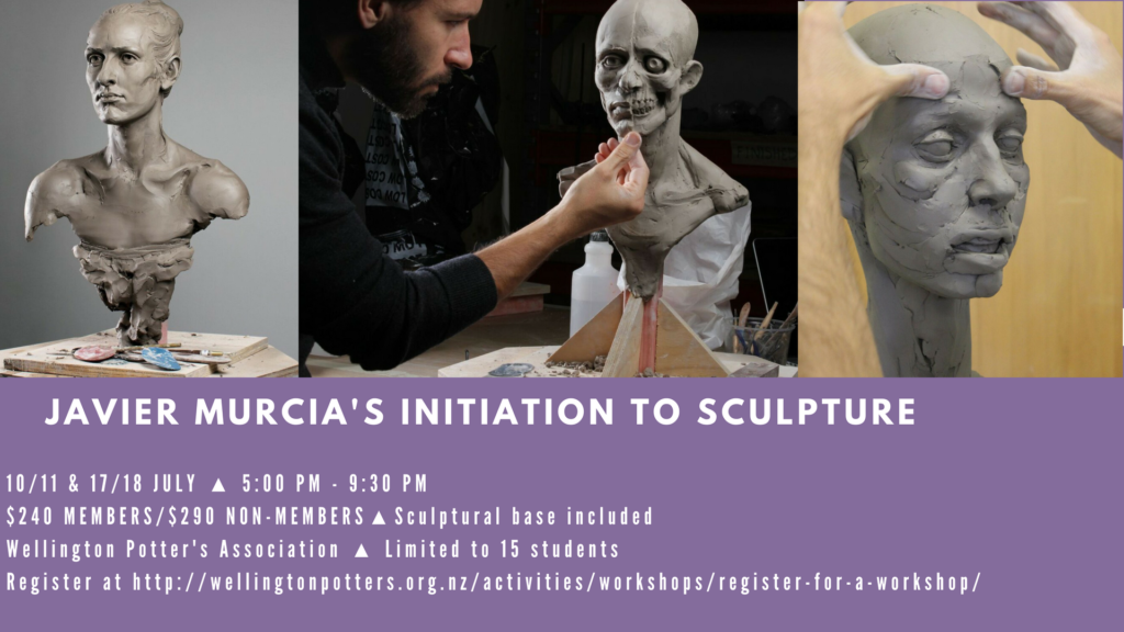 WPA Javier Murcia sculpture workshop flyer