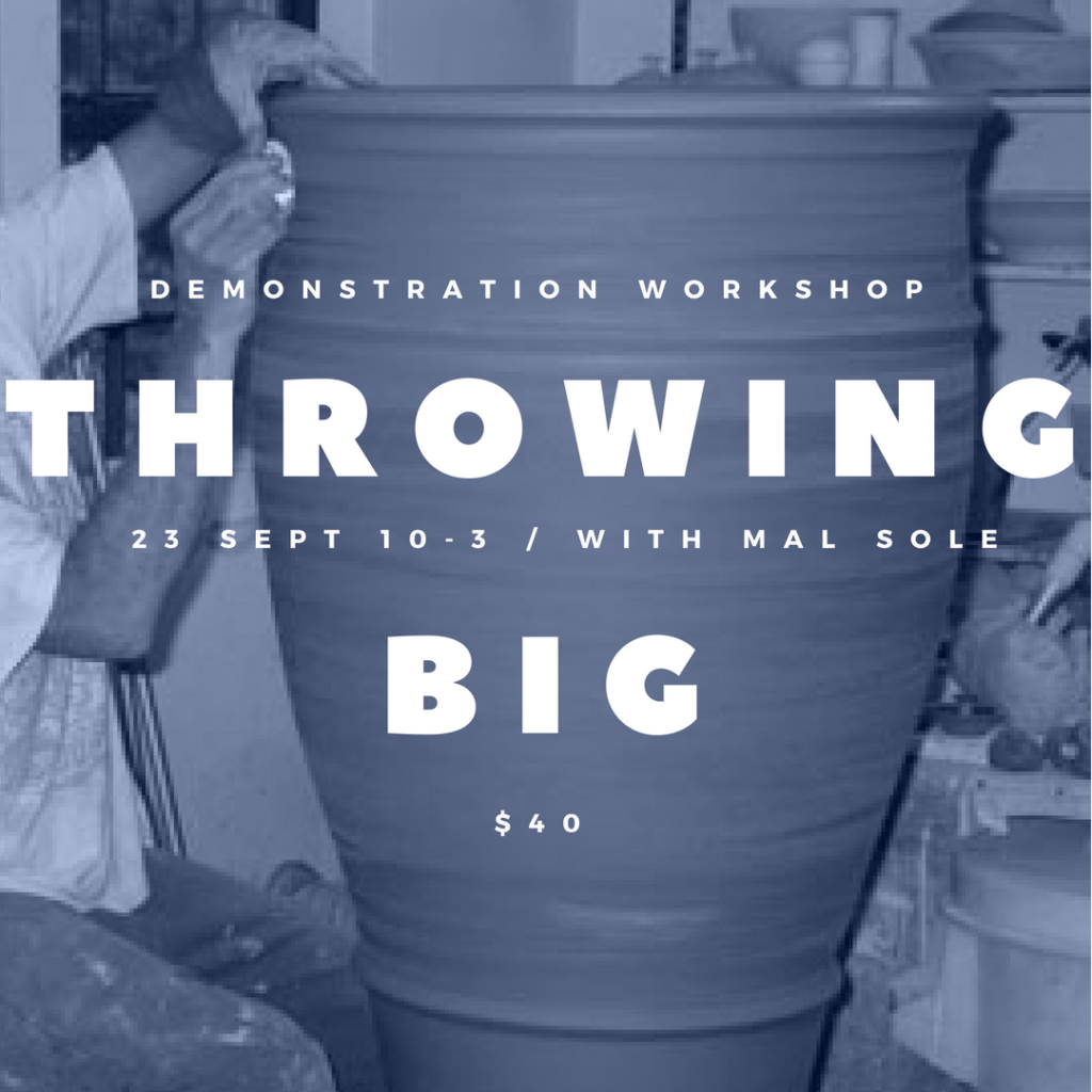 Workshop poster - throwing big - 23 sept