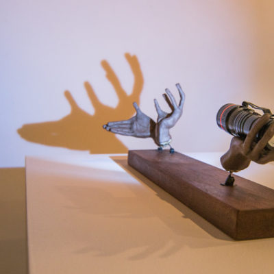deer shadow sculpture