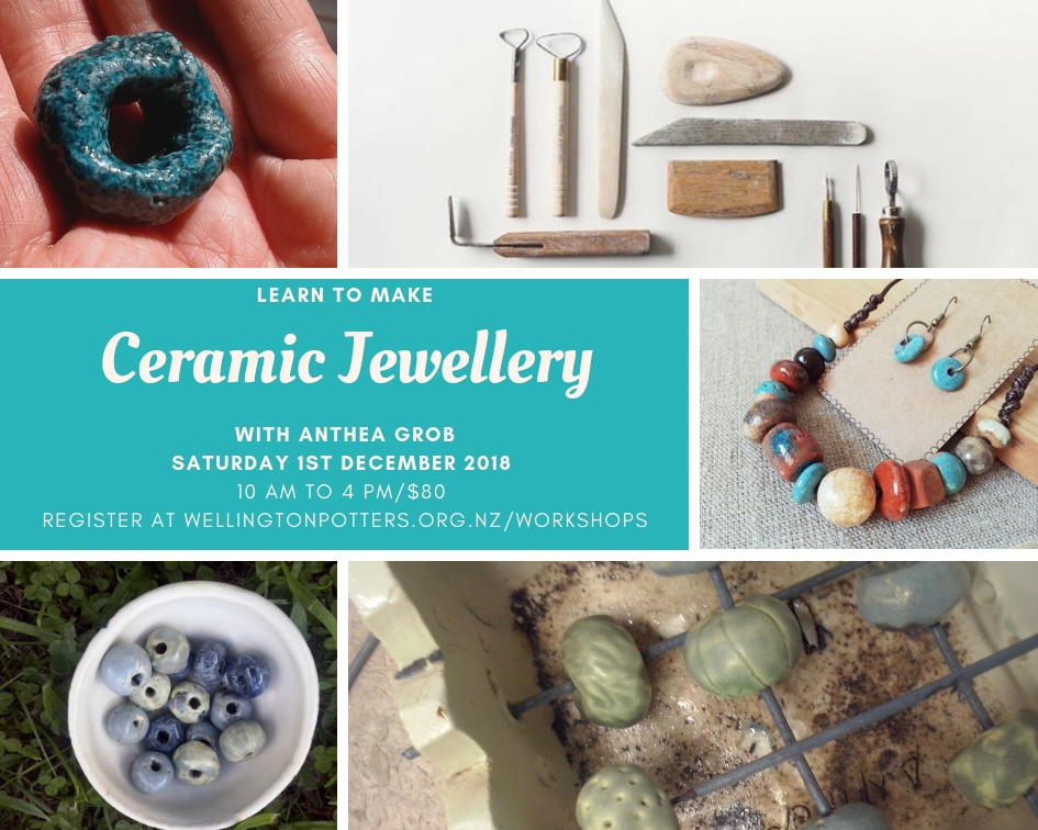 Ceramic jewellery workshop flyer