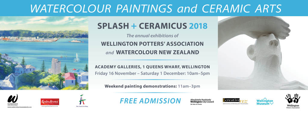 Splash and Ceramicus 16 Nov - 1 Dec 2018 banner