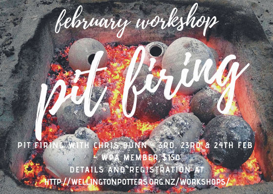 Pit firing workshop flyer